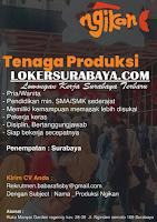 Info Lowongan Kerja Surabaya di Ngikan Desember 2019