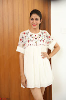Lavanya Tripathi in Summer Style Spicy Short White Dress at her Interview  Exclusive 263.JPG