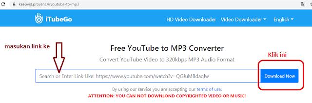 convert youtube dengan keepvid
