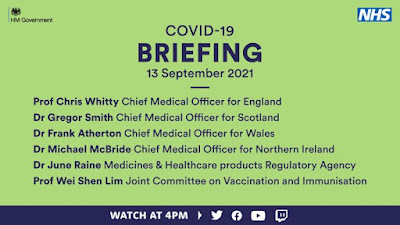 130921 COVID briefing with JCVI CMOs and MHRA Vaccination 12-15 year olds