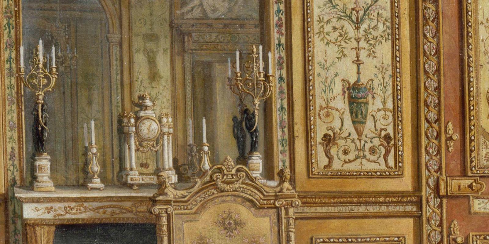 Marie Antoinette Inspired Bedroom Marie Antoinettes Boudoir At Fontainebleau Marie Antoinettes