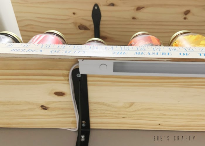 How to hide power cords for under-cabinet lighting