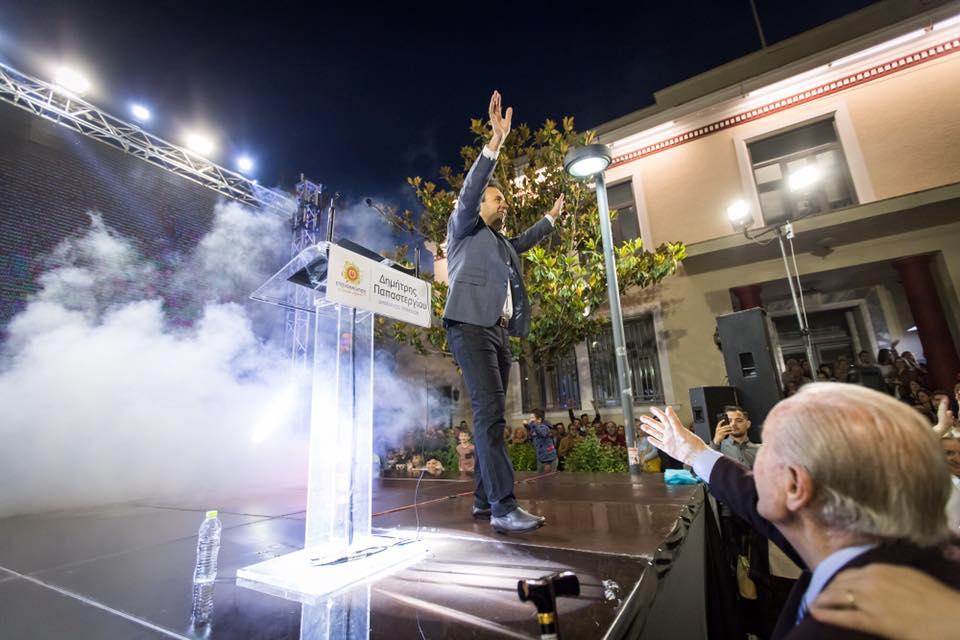 Σαρωτική νίκη για τον Δημήτρη Παπαστεργίου στα Τρίκαλα από την πρώτη Κυριακή