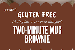 Gluten free Two-Minute Mug Brownie #glutenfree