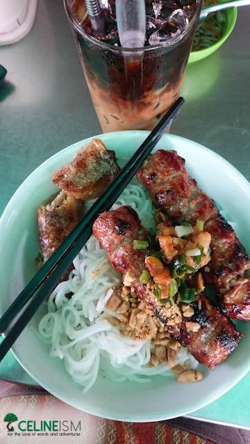 bun cha gio thit nuong street food