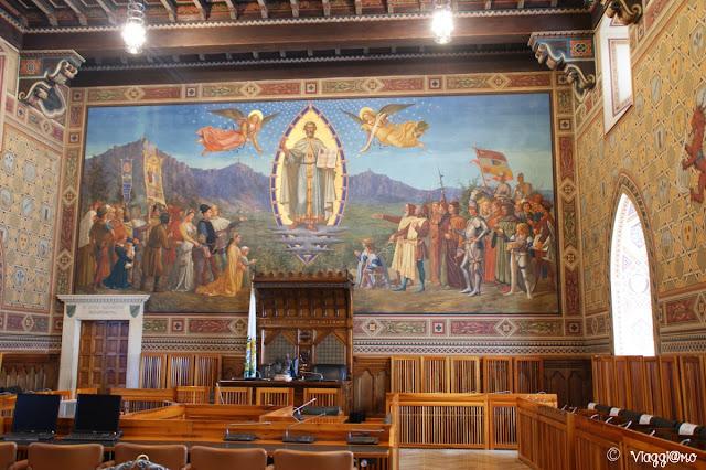 La meravigliosa Sala del Consiglio Grande e Generale di San Marino