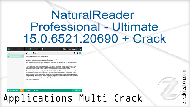 NaturalReader Professional – Ultimate 15.0.6521.20690 + Crack   |  181 MB