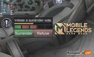 Arti Suren di ML, Apa Fungsi Tombol Surrender Mobile Legends
