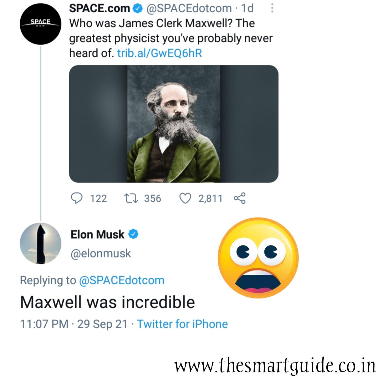 Why did Elon musk tweeted Maxwell was incredible