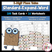 Expanded Form Word Name and Standard Form 3 Digit Numbers