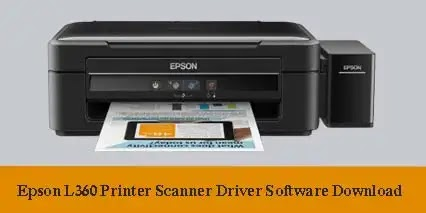 Epson L360 Printer Scanner Driver Software Download