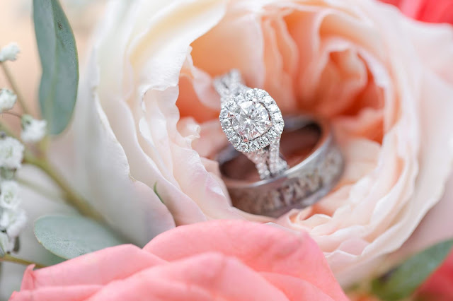 Shenandoah Mill in Gilbert AZ Wedding Rings in Flowers by Micah Carling Photography