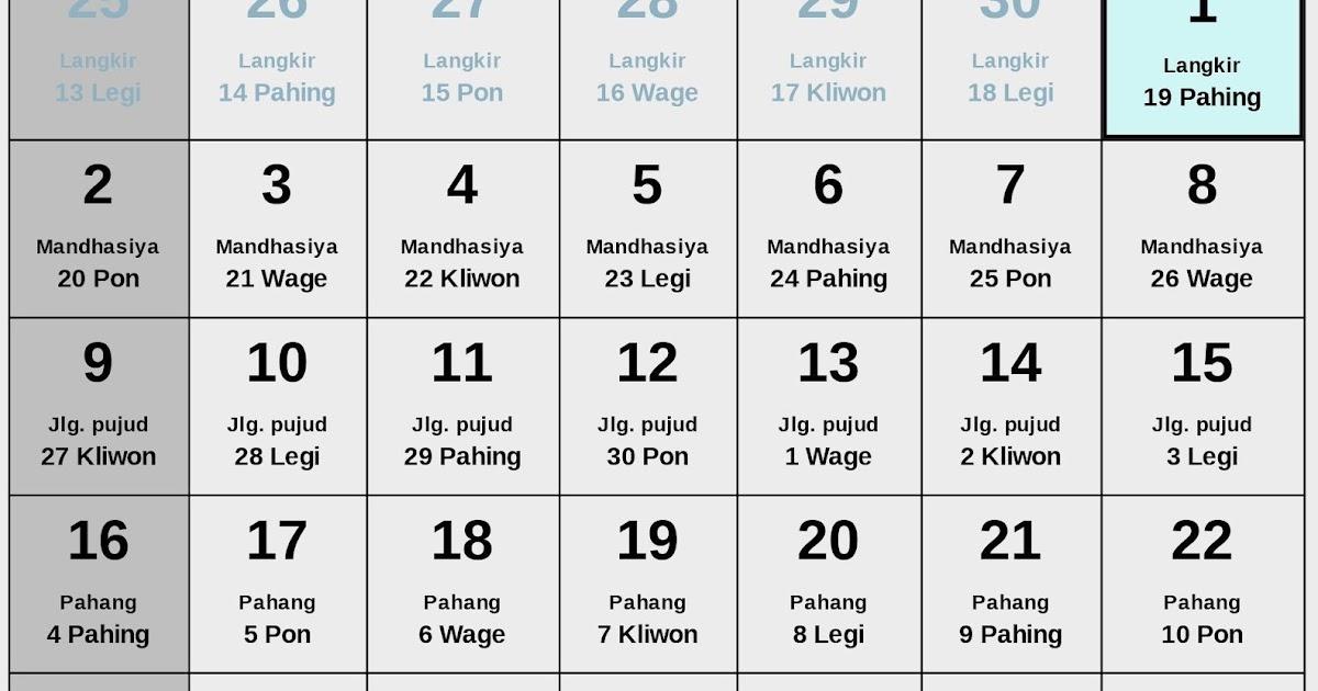 Kalender Weton Jawa Bulan Mei 2021 Lengkap - Enkosa.Com ...
