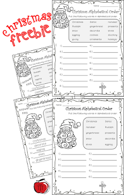 https://www.teacherspayteachers.com/Product/Christmas-Alphabetical-ABC-Order-Differentiated-3522871