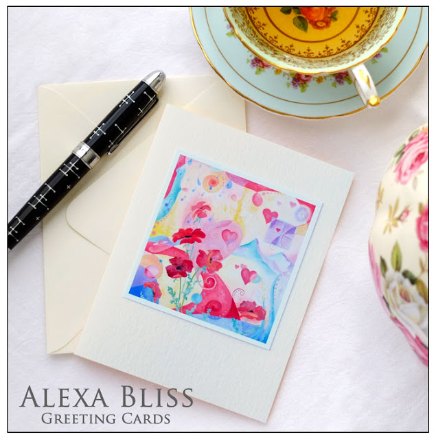 Alexa Bliss greeting cards - original painting