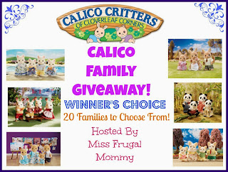 Enter the Calico Critters Family Giveaway. Ends 3/22.