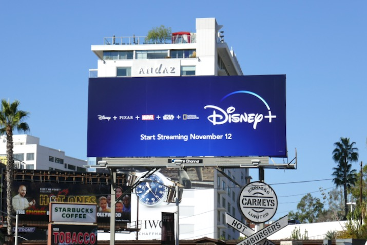 Disney plus launch billboard
