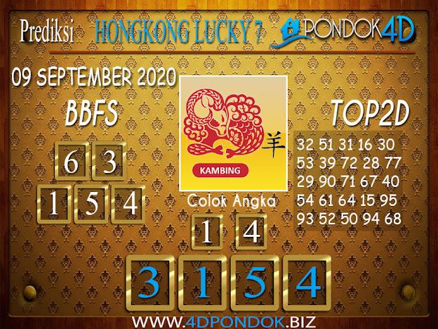 Prediksi Togel HONGKONG LUCKY 7 PONDOK4D 09 SEPTEMBER 2020