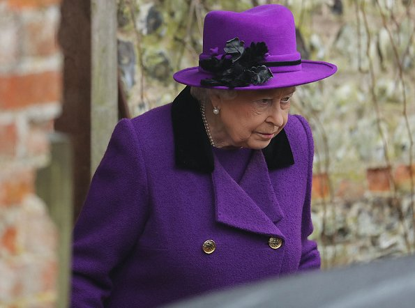 Queen Elizabeth and Prince Philip attended Sunday church service at Flitcham church in the village of Flitcham