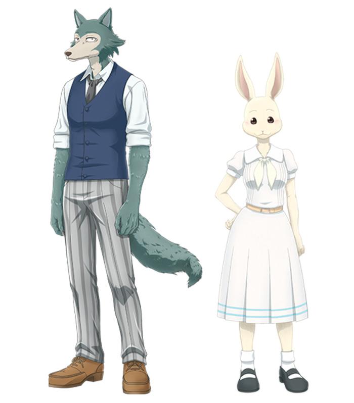 Beastars anime - personajes (Legoshi y Haru)