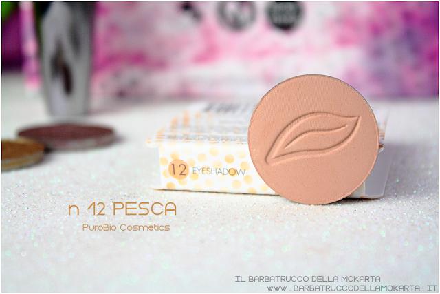 n 12 pesca recensione ombretto eyeshadow Purobio Cosmetics
