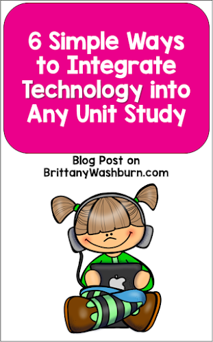 You don't have to teach technology to use technology in your teaching!  Teachers can integrate technology into any unit of study.