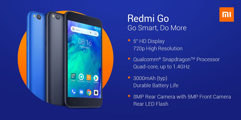 Redmi Go Launched in India at Just  Rs.4,499
