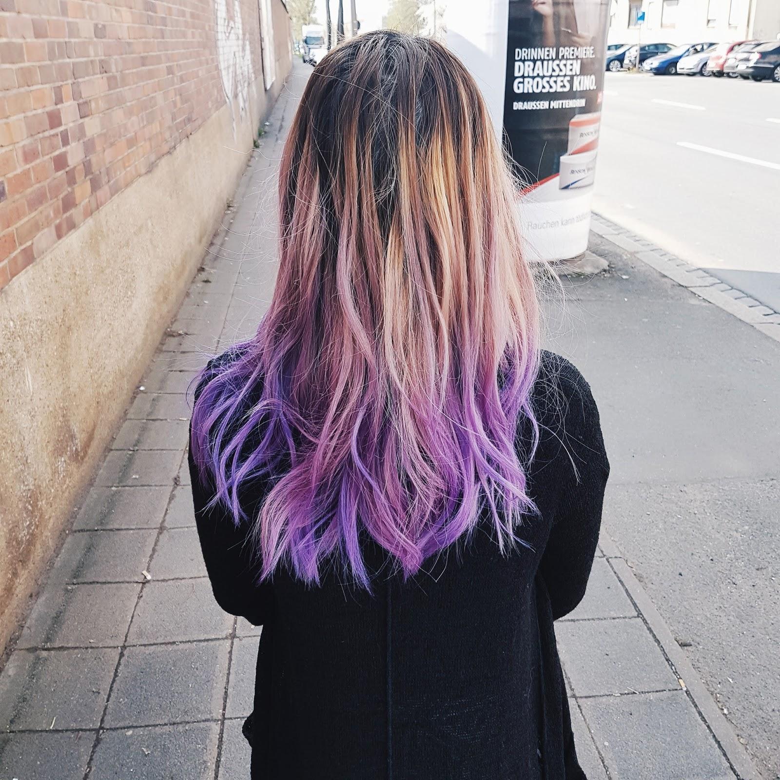 Lila Haare Purple Hair Einhornfarbe