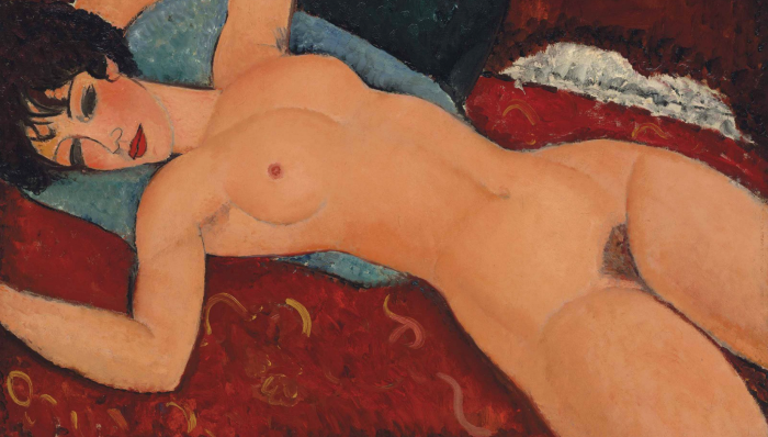 Reclining Nude with Outstretched Arms