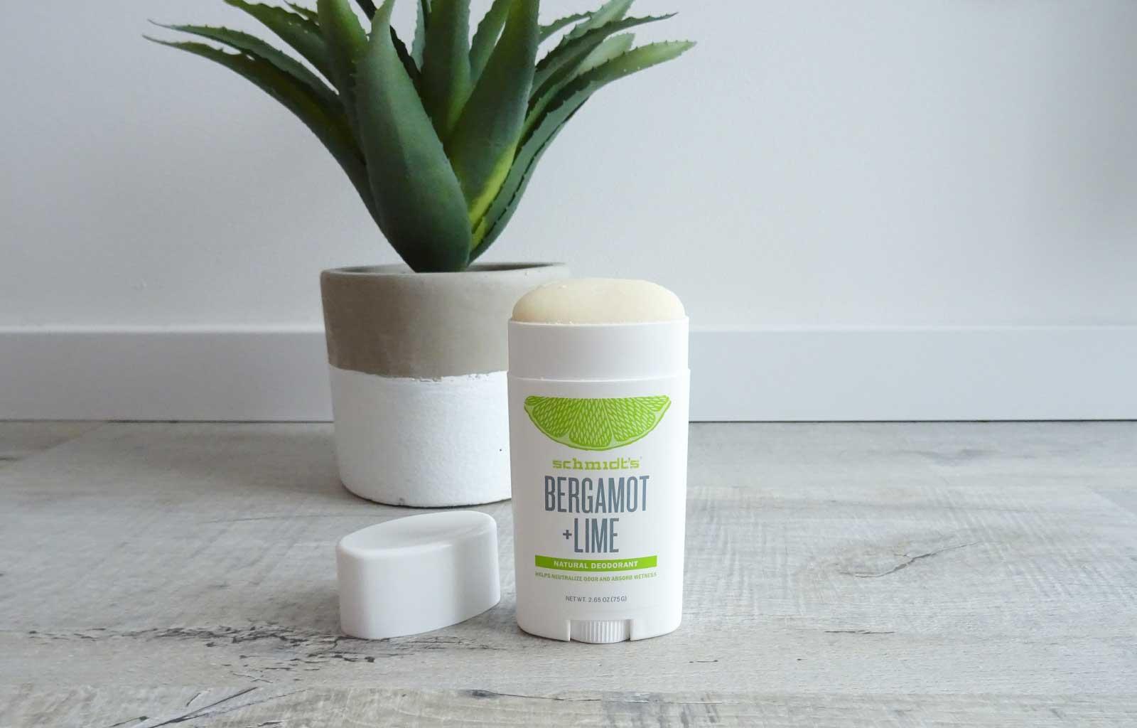 """dédorants Schmidt's avec """"Bergamote + Citron vert"""""""