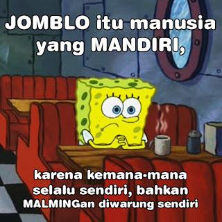 meme spongeboob tentang jomblo