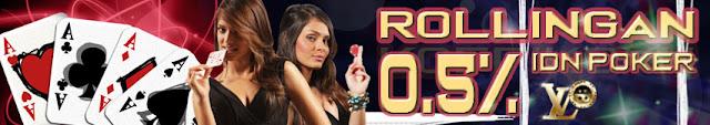 LVOBet - Bonus Rollingan IDN Poker 0.5%