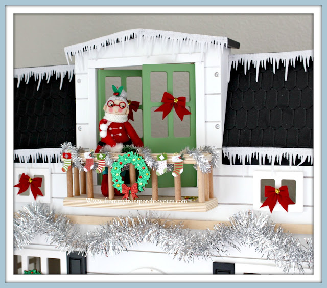 Christmas Farmhouse Cottage- Breakfast -Nook-Hearth & Hand Doll- House- Mrs. Claus-Ornament-Vintage-Style-From My Front Porch To Yours