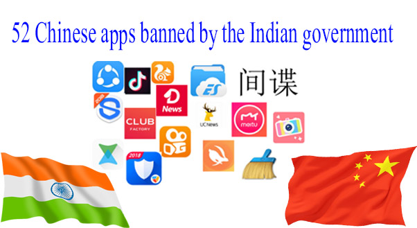 52 Chinese apps banned by the Indian government