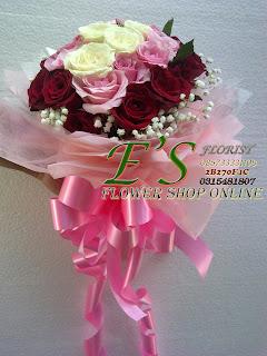 bunga tangan murah mawar istimewa