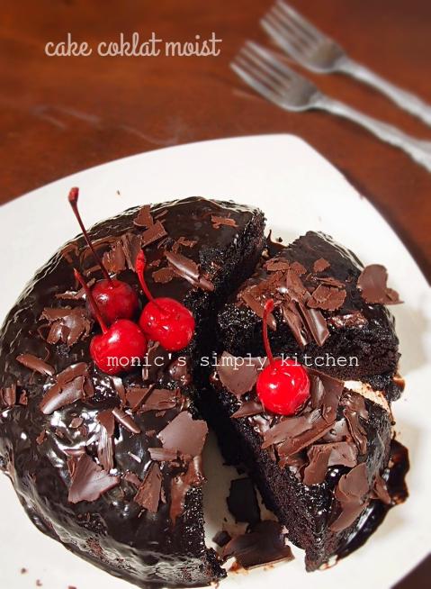 Cake Coklat Kukus Moist Monics Simply Kitchen