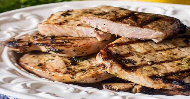Grilled Basil Lemon Pork Chops Recipe