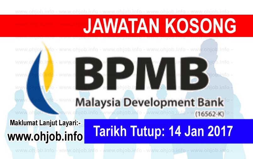Jawatan Kerja Kosong Bank Pembangunan Malaysia Berhad logo www.ohjob.info januari 2017
