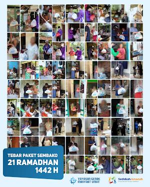 Penyaluran Sembako Ramadhan 1442 H Tahap 6