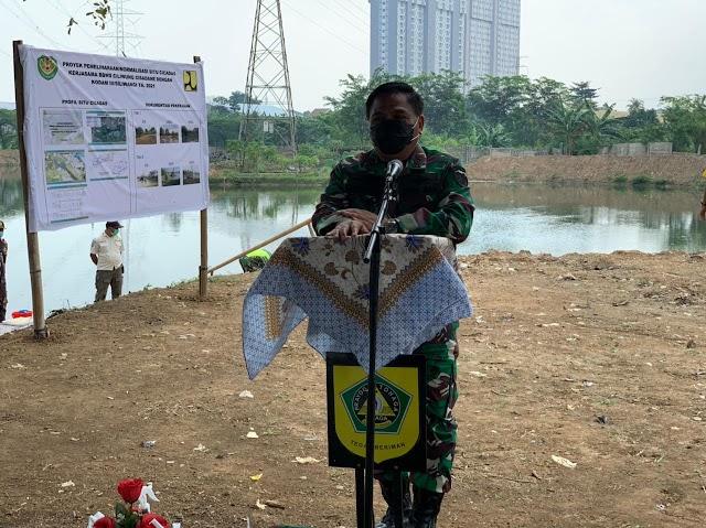 Kelestarikan Lingkungan, Pangdam III/Slw Kontrol Normalisasi 4 Setu Di Bogor
