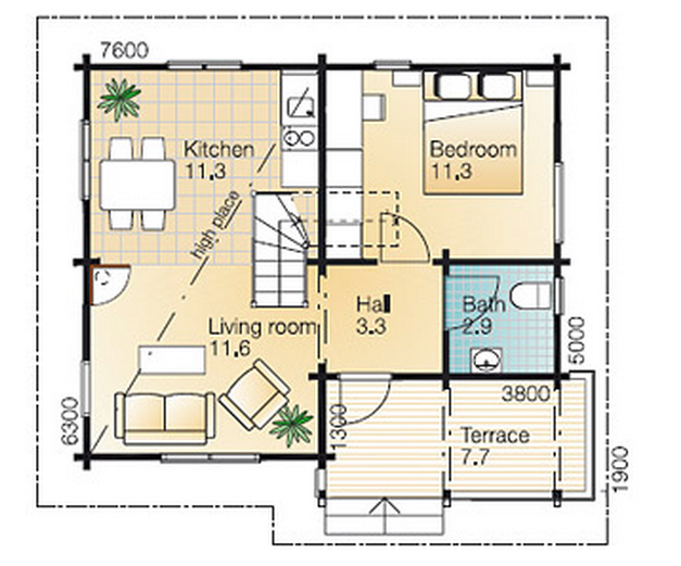 Pretty and Elegant Small Wooden House – Small Wood House Plans