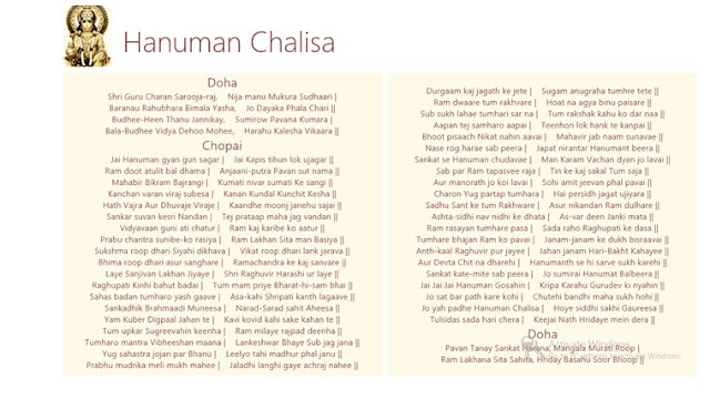 Shri Hanuman Chalisa Full In English