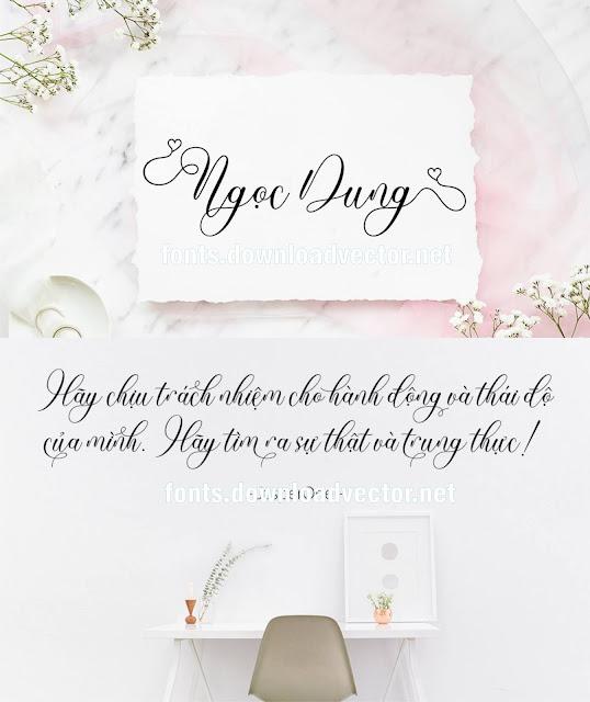 Download fonts wedding thiệp cưới mới nhất