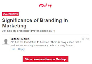 Society of Internet Professionals branding meetup