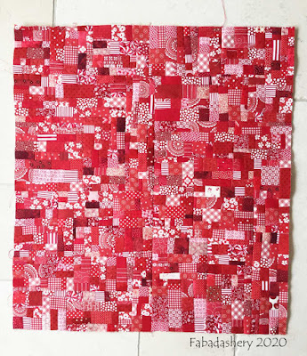 New fabric made from the red scraps