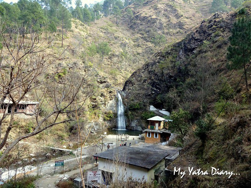 Dhokaney waterfall trail near Dhanachuli Uttarakhand