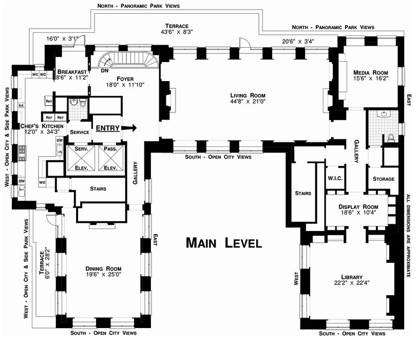 Real Estate Agent Property More New York City Floor Plan