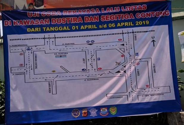 Jalan Satu Arah Seputar Dustira, Jalan Urip dan jl Sudirman di Kota Cimahi