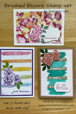 Brushed Blooms card class cards