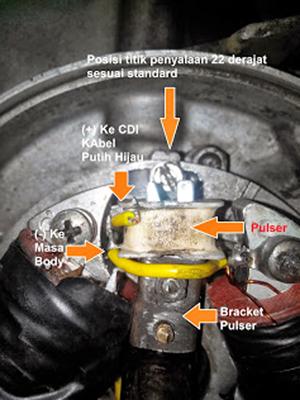 Cara merubah platina scooter vespa ke CDI